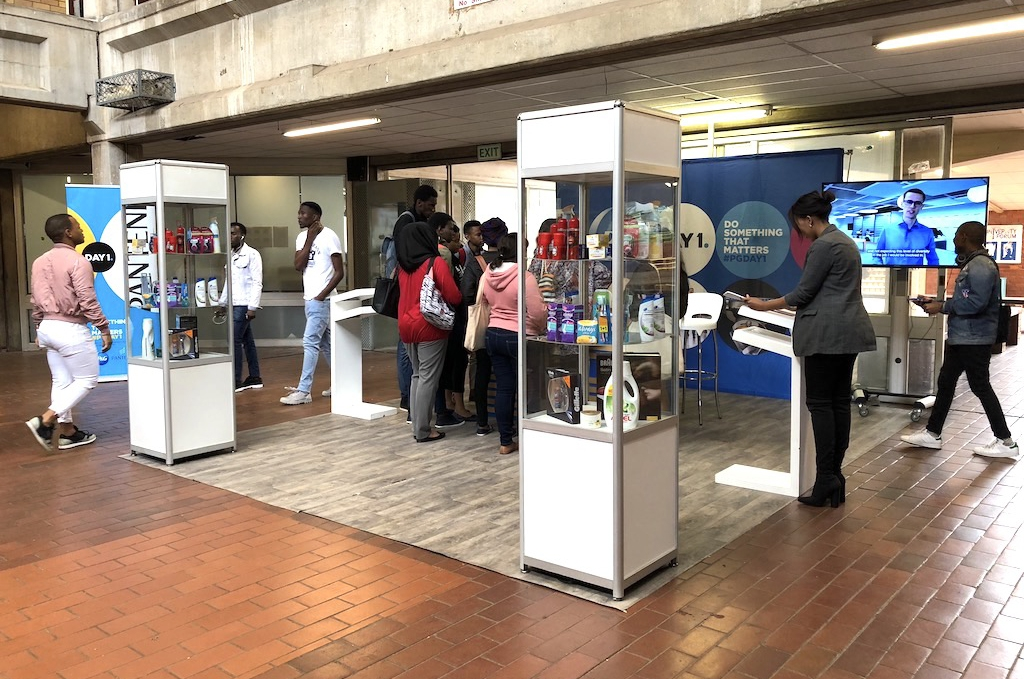 wide span of the stand (PNG Career Fair)